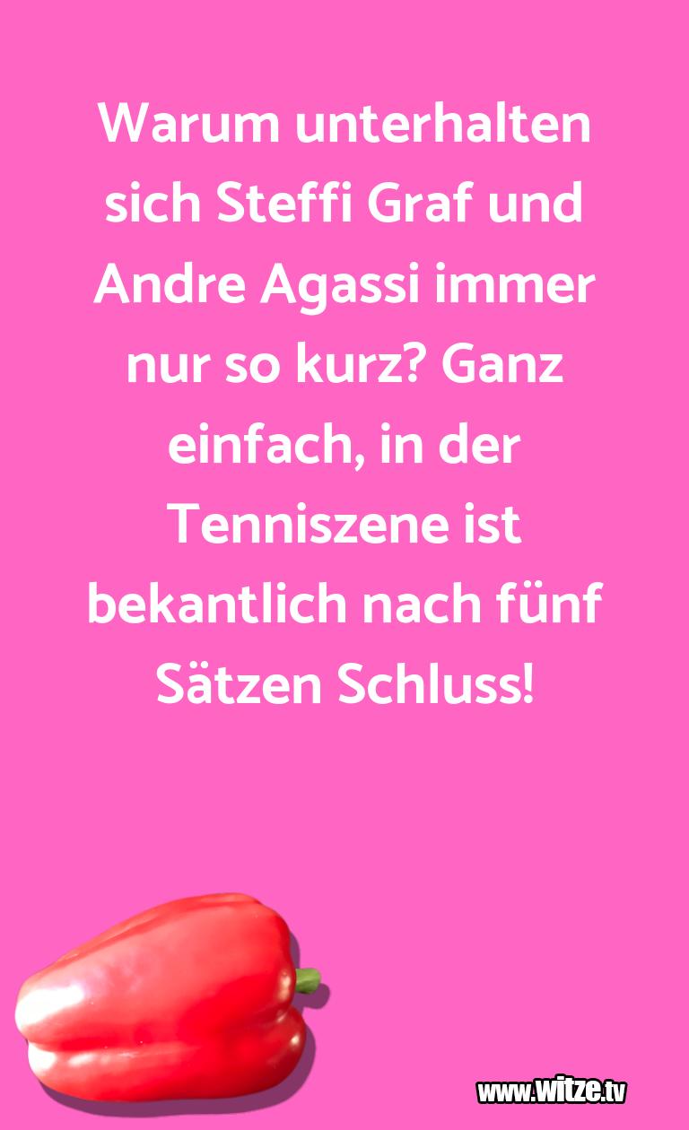 Was ein Jux... Warum unterhalten sich Steffi Graf und Andre Agass…