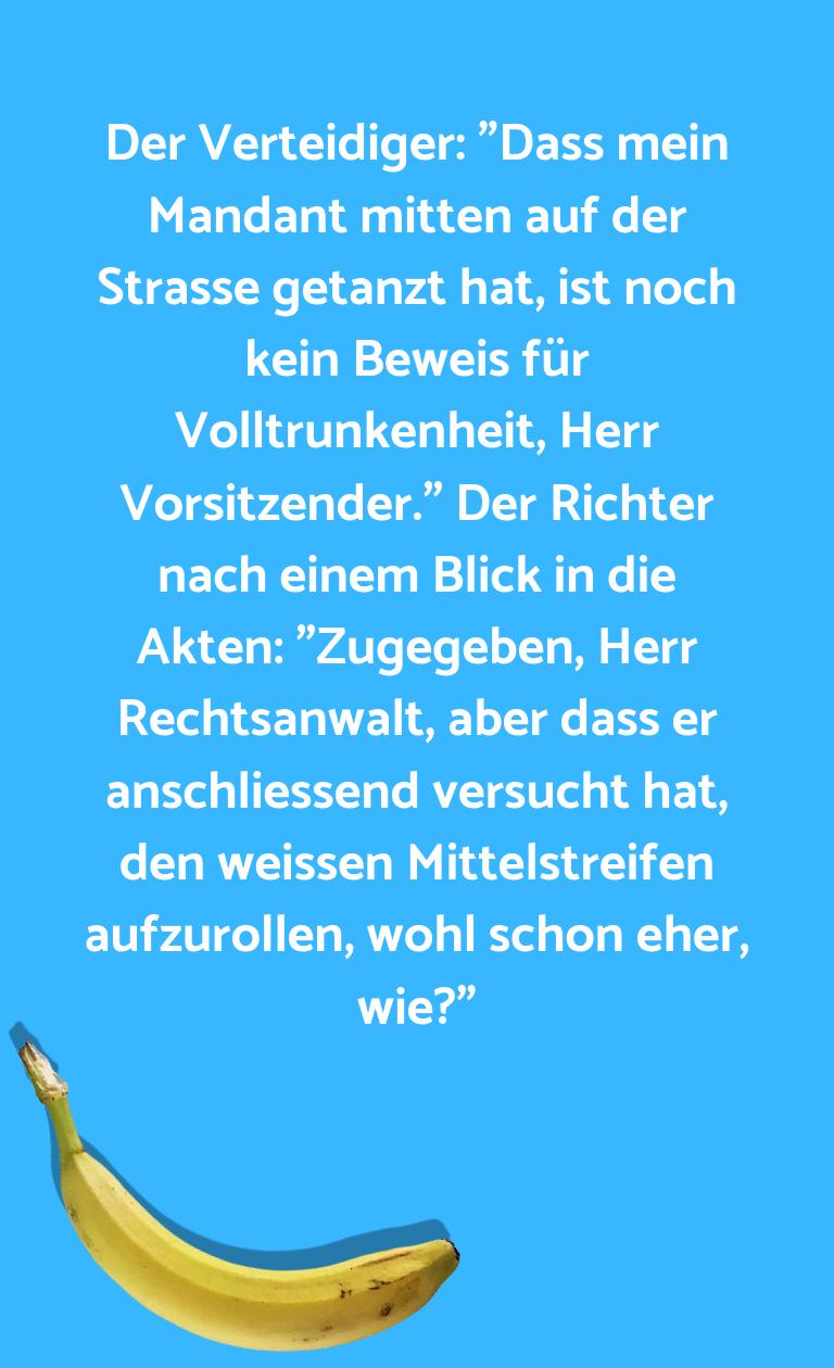 """Ein Wortwitz über… Der Verteidiger: """"Dass mein Mandant mitten auf der…"""