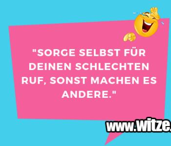 """Sorge selbst für…"