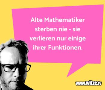 Alte Mathematiker sterben…