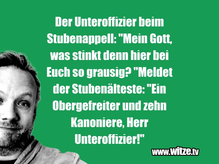 """Hammer Joke... Der Unteroffizier beim Stubenappell: """"Mein Gott, w…"""
