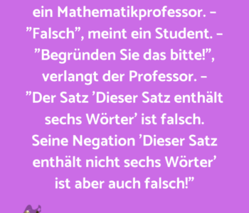"""""""Die Negation einer…"""