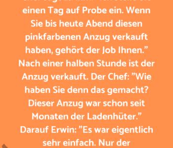 Erwin bewirbt sich…