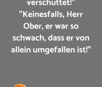 """""""Mein Herr, sie…"""