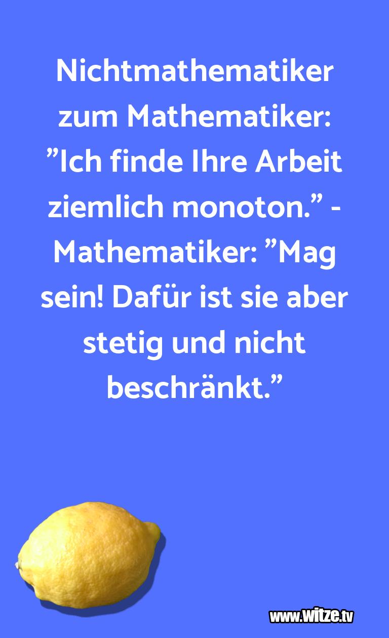 """Nur Unsinn… Nichtmathematiker zum Mathematiker: """"Ich finde Ihr…"""