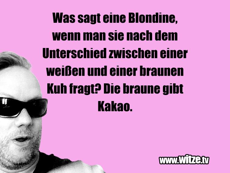 Krönung der Witze… Was sagt eine Blondine, wenn man sie nach dem Unte…