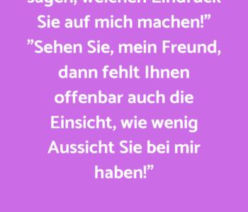 """""""Fräulein, mir fehlt…"""