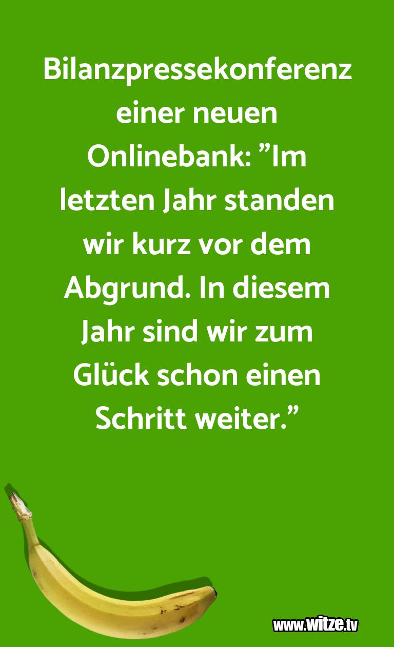 """Mehr Schabernack über...Bilanzpressekonferenz einer neuen Onlinebank: """"Im …"""