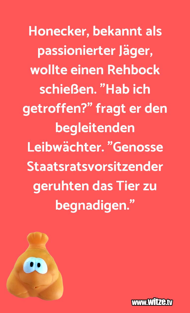 Erfindergeist oder doch nur Scharbernack...Honecker, bekannt als passionierter Jäger, wollte …