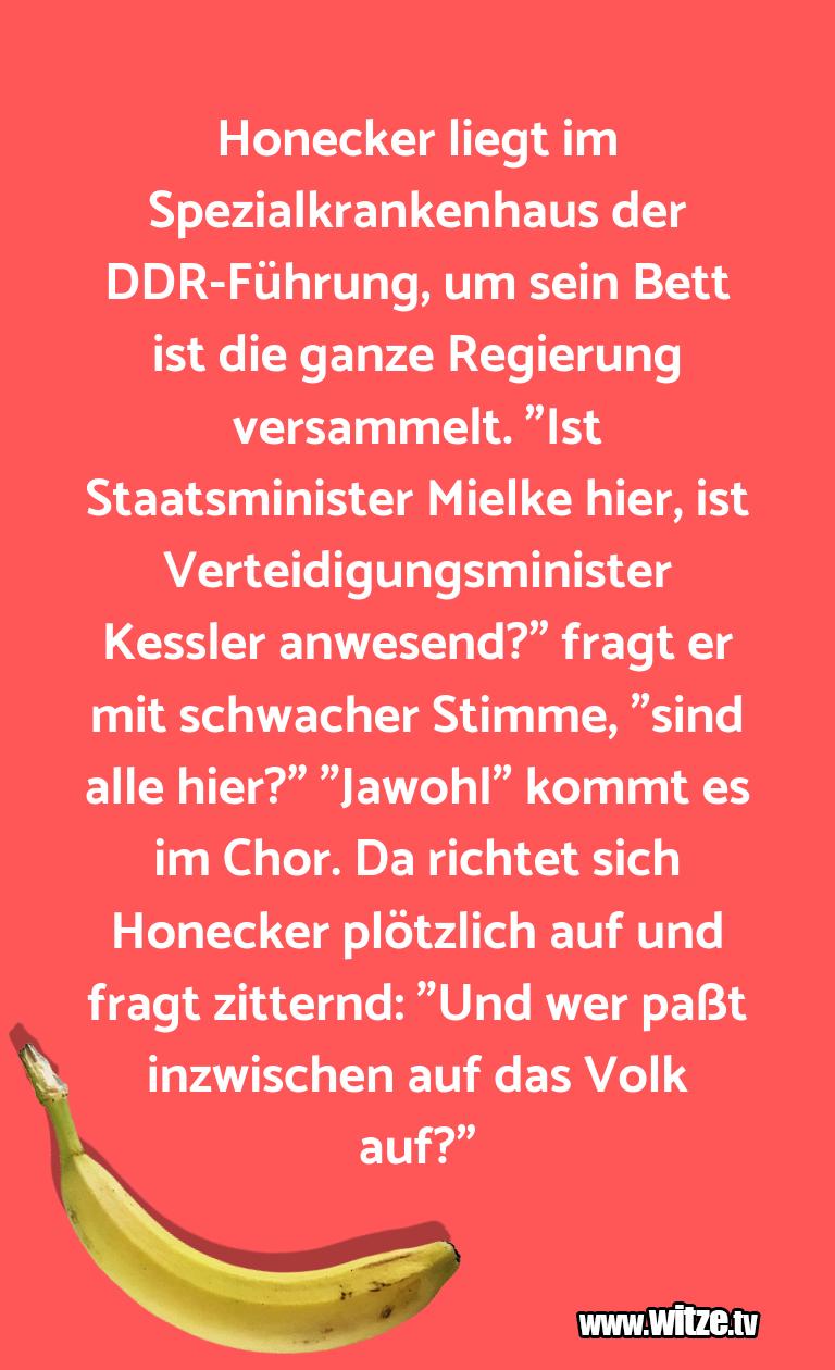GeisteshaltungoderSchabernack…HoneckerliegtimSpezialkrankenhausderDDR Führu…