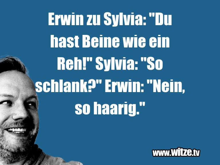 """Nur Unsinn… Erwin zu Sylvia: """"Du hast Beine wie ein Reh!"""" Sylv…"""