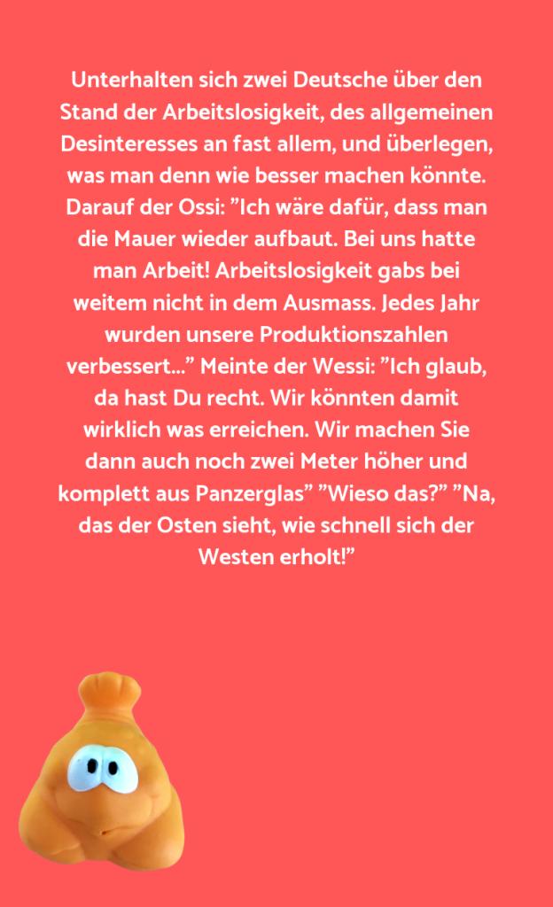 Unterhalten sich zwei Deutsche über den Stand der