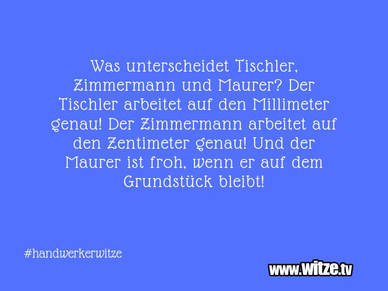 Clown Witze!... Was unterscheidet Tischler, Zimmermann und Maurer?…