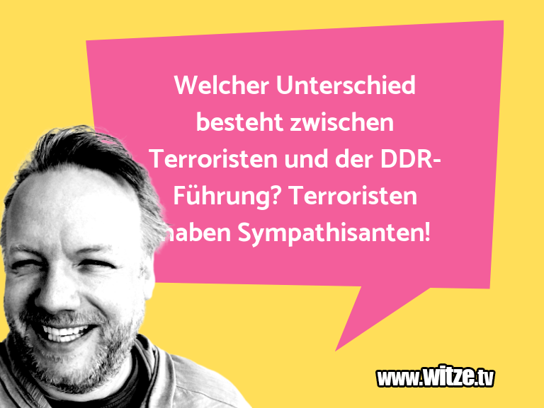 Lustige Anspielung… Welcher Unterschied besteht zwischen Terroristen u…