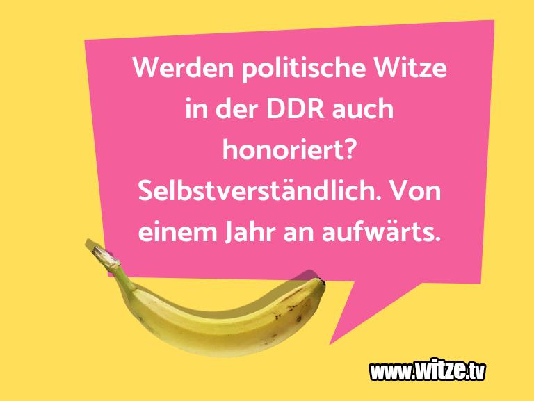 Muttis Witze… Werden politische Witze in der DDR auch honoriert?…