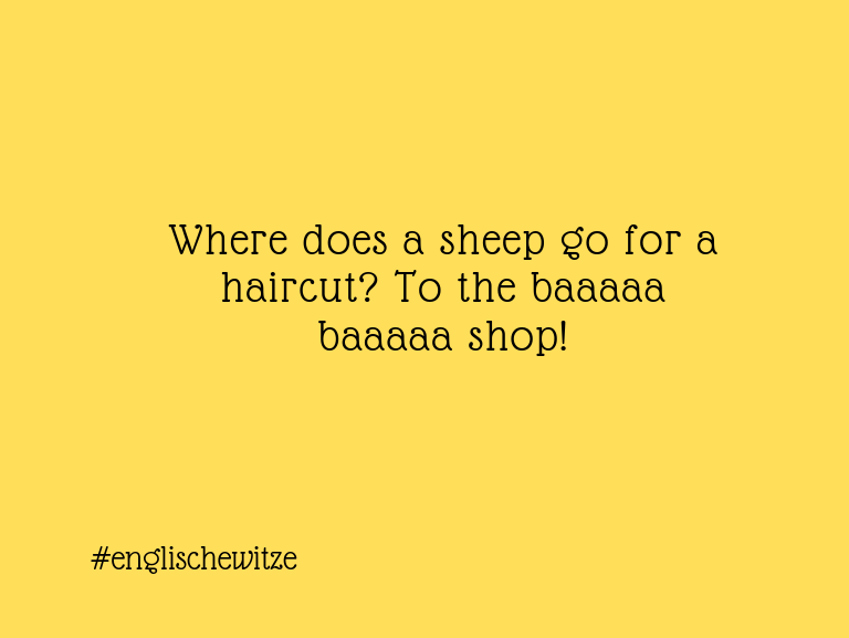 Erfindergeist oder doch nur Scharbernack...Where does a sheep go for a haircut? To the baaaaa…
