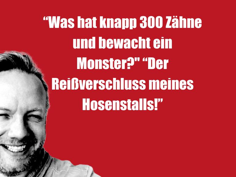 """Geistesblitzzu…""""WashatknappZähneundbewachteinMonster?""""…"""