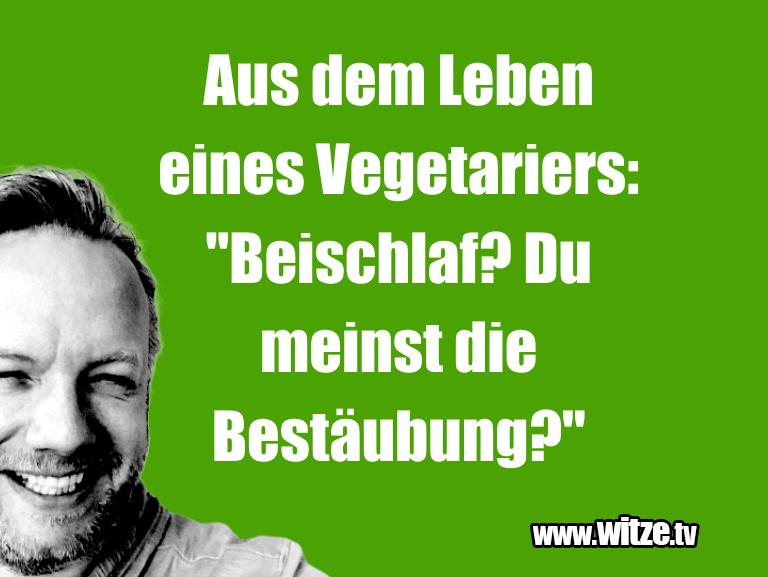 """Mehr Schabernack über...Aus dem Leben eines Vegetariers: """"Beischlaf? Du me…"""