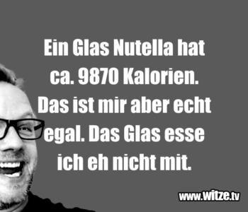 Ein Glas Nutella hat…