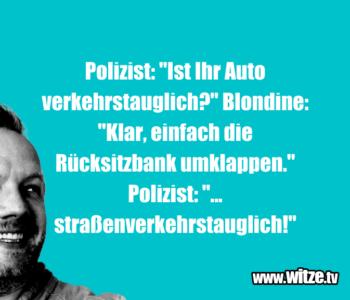 """Polizist: """"Ist Ihr Auto…"""