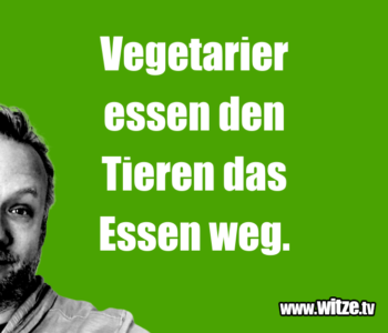 Vegetarier essen den…