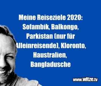 Meine Reiseziele 2020…