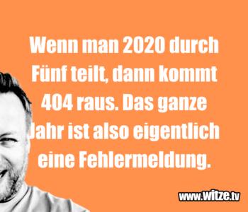 Wenn man 2020 durch…