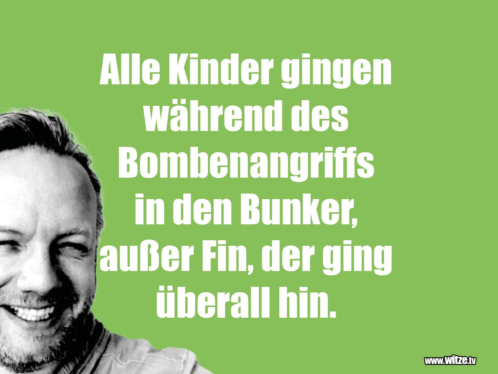 Was ein Jux... Alle Kinder gingen während des Bomenangriffs in den Bunker, außer...