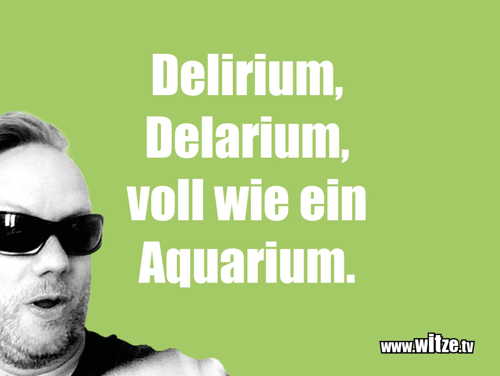 Erfindergeist oder doch nur Scharbernack... Delirium, Delarium, voll wie ein...