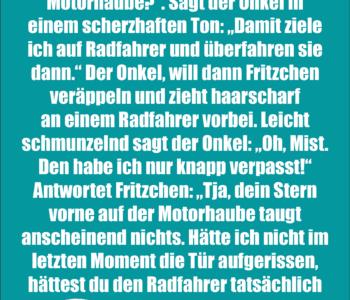 Klein Fritzchen fährt…