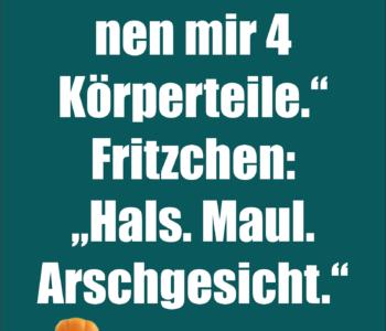 """Lehrer: """"Fritzchen, nen…"""