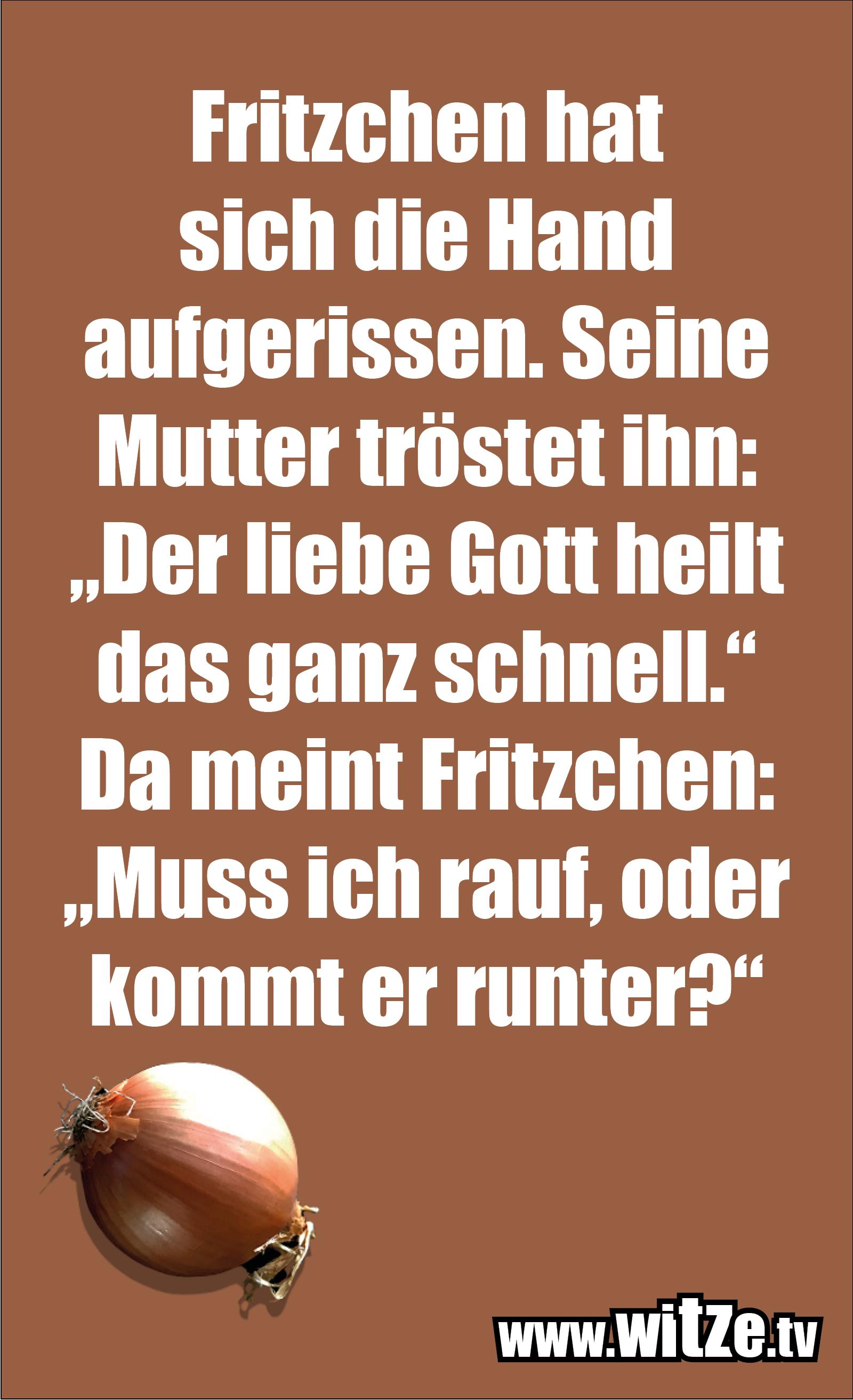 Hammer Gag... Fritzchen hat sich die Hand...