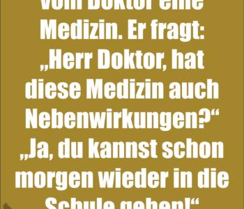 Fritzchen ist krank…