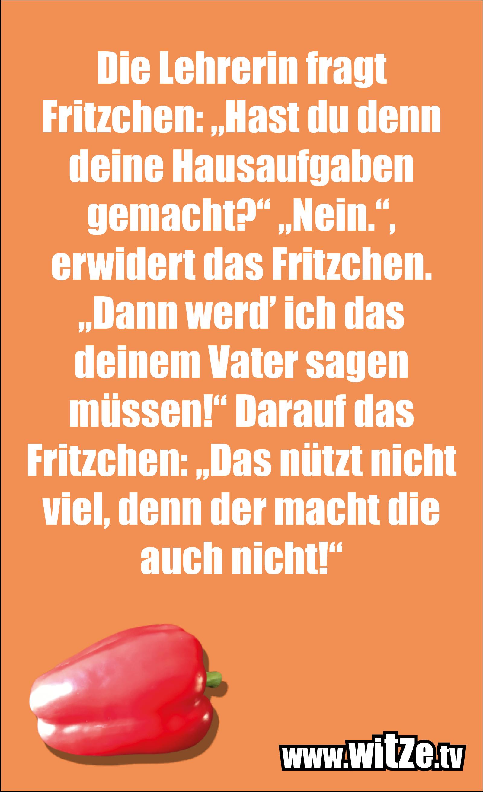 Witz über... Die Lehrerin fragt Fritzchen...
