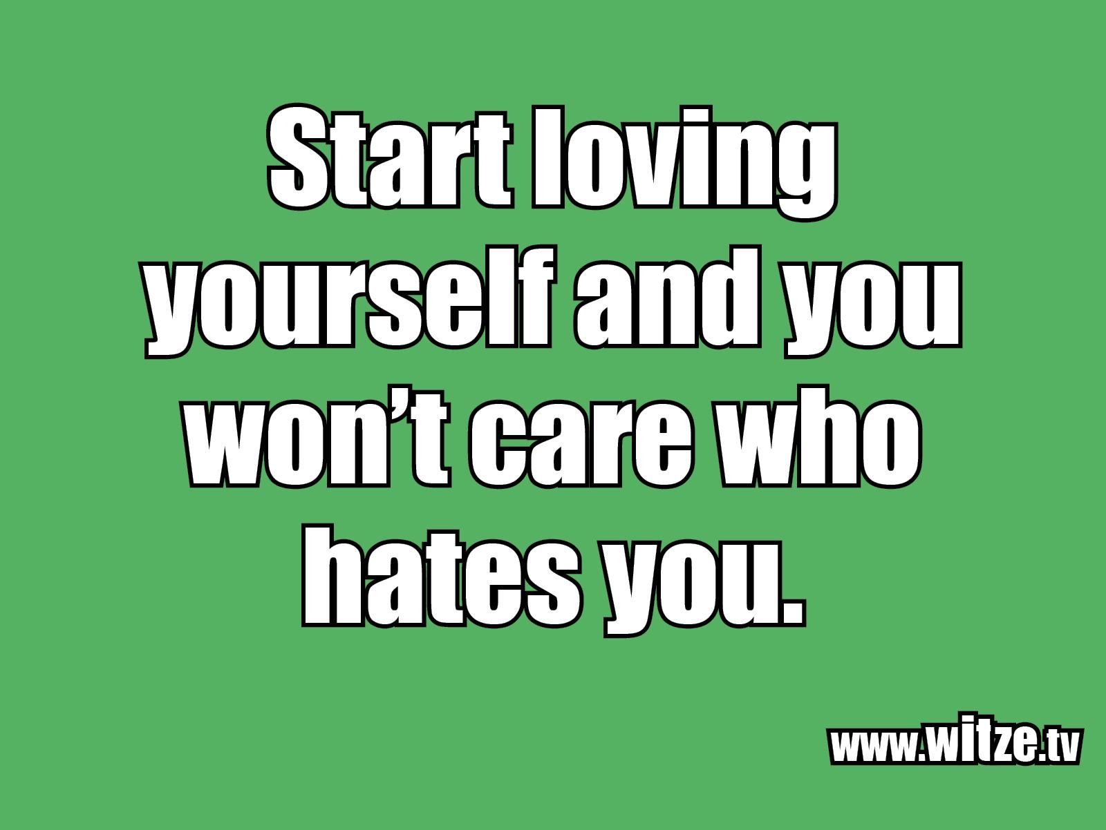 Hammer Gag... Start loving yourself...
