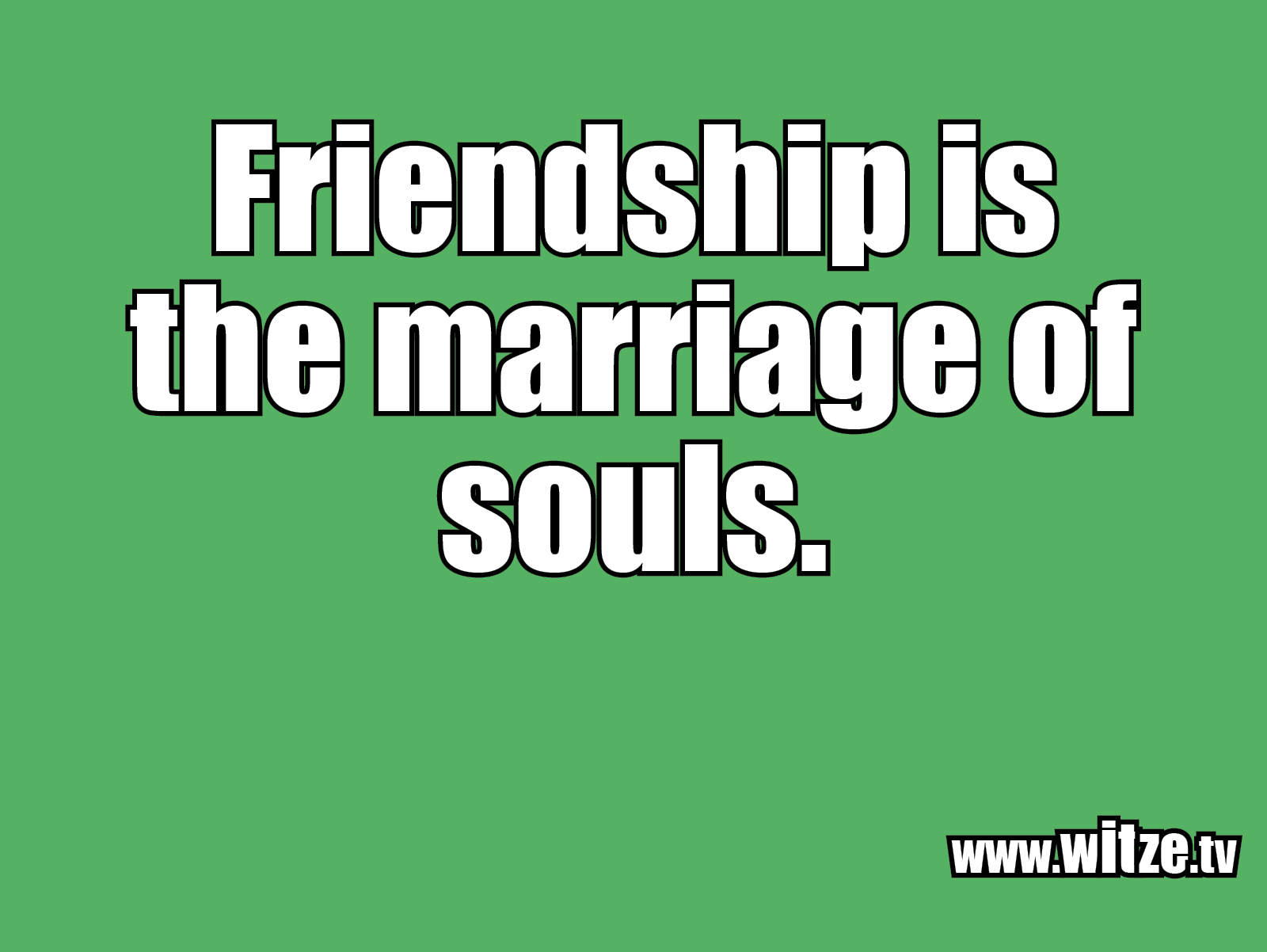 Kracher vom Schöpfer... Friendship is the marriage...
