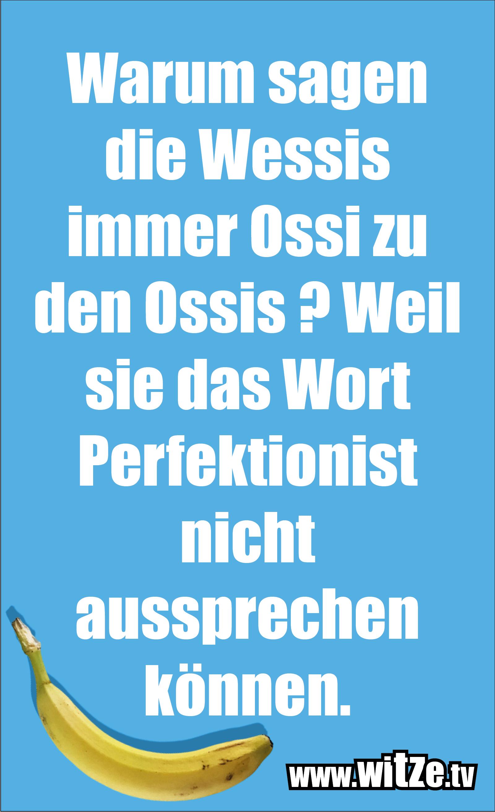 Warum sagen die Wessis immer Ossi...