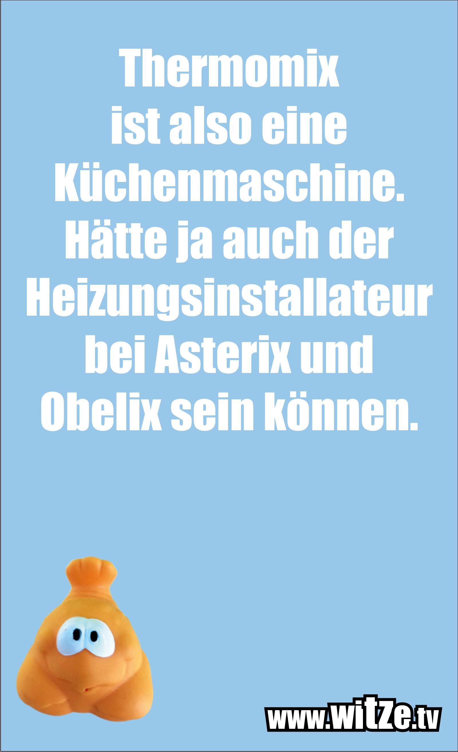 Nur Unsinn... Thermomix ist also eine Küchenmaschine. Hätte ja auch der Heizungsinstallateur bei Asterix und Obelix sein können.