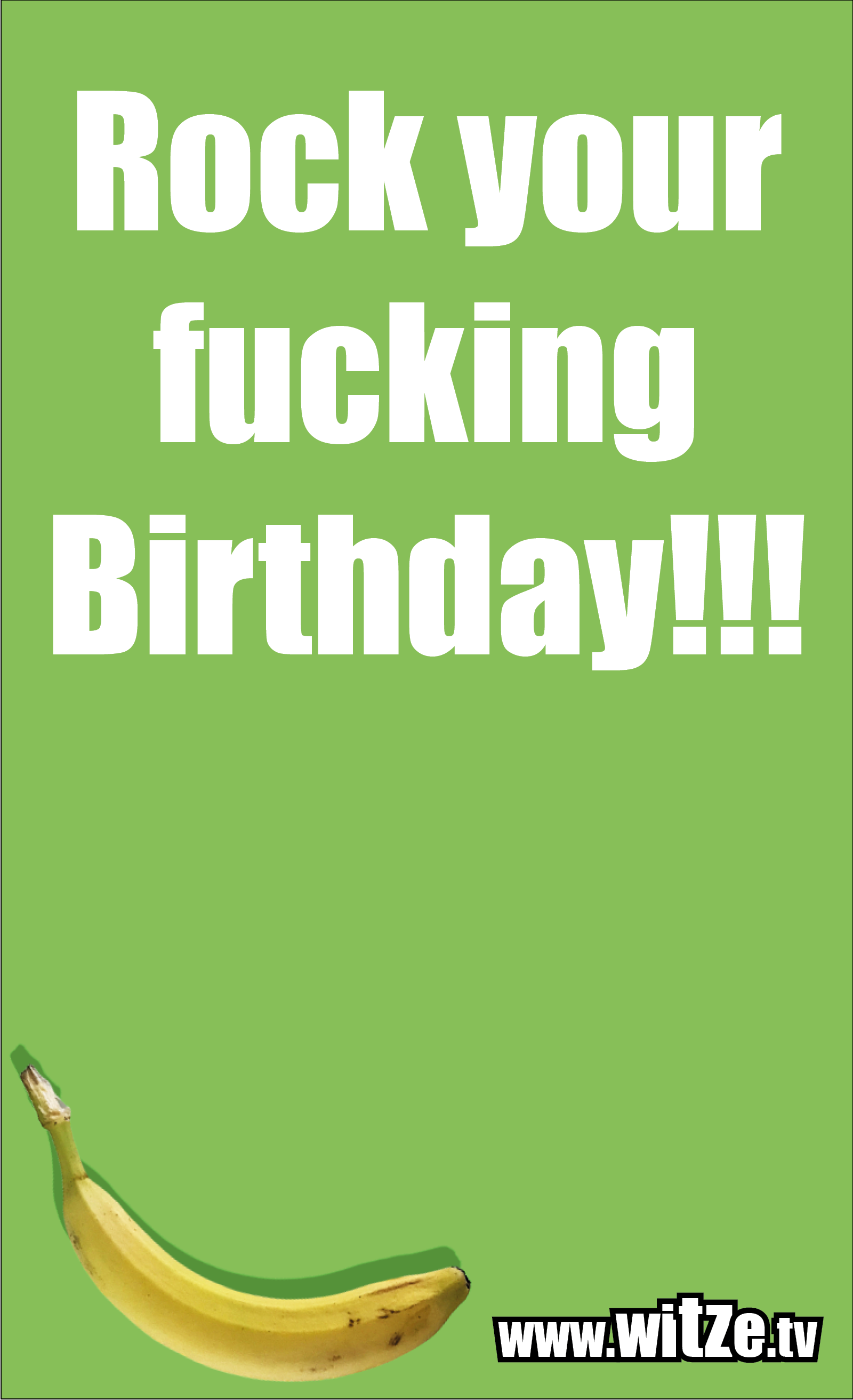 Lustige Geburtstagswünsche: Rock your fucking Birthday!!!