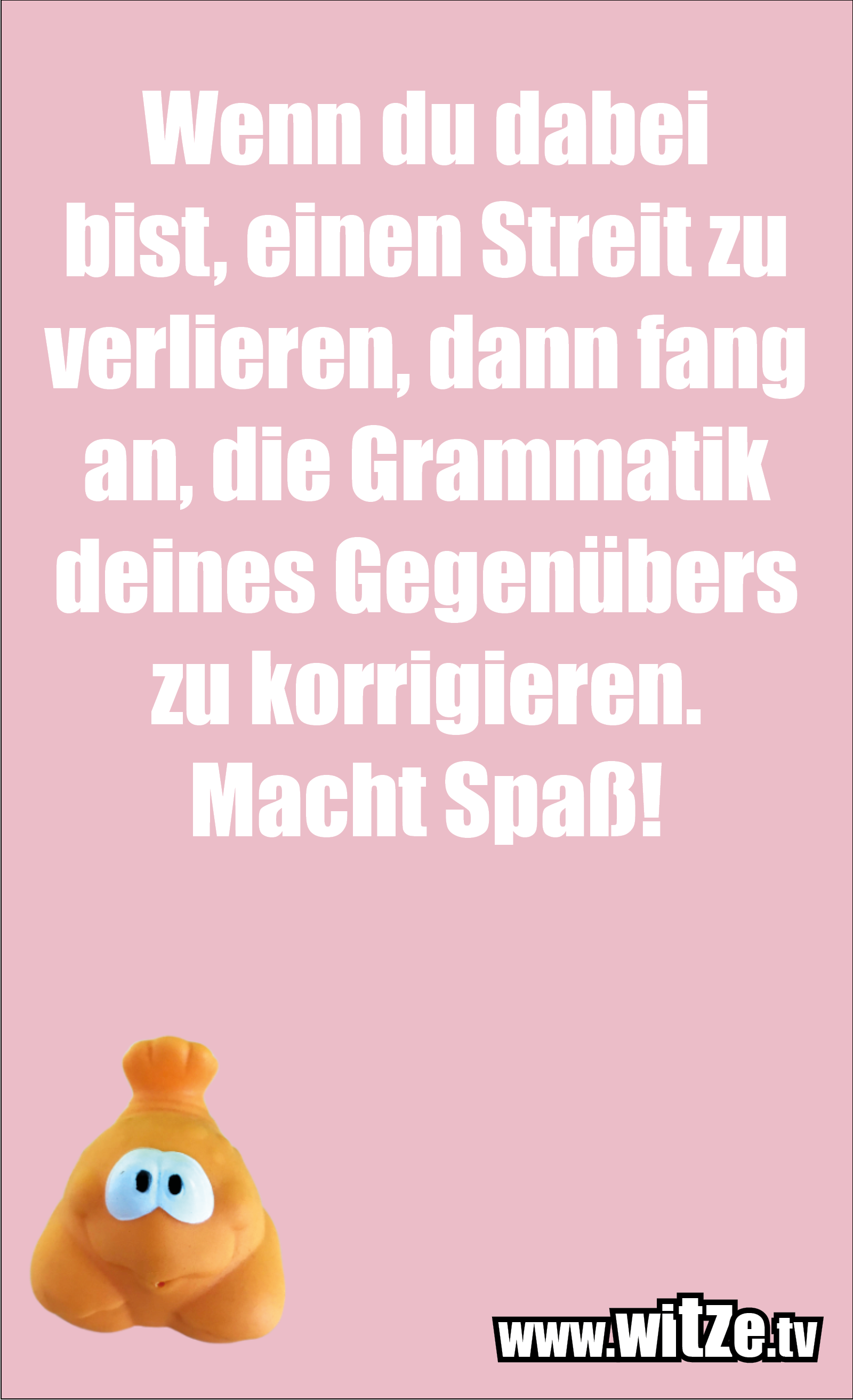Sarkasmus Sprüche: Wenn du dabei bist, einen Streit zu verlieren, dann fang an, die Grammatik deines Gegenübers zu korrigieren. Macht Spaß!