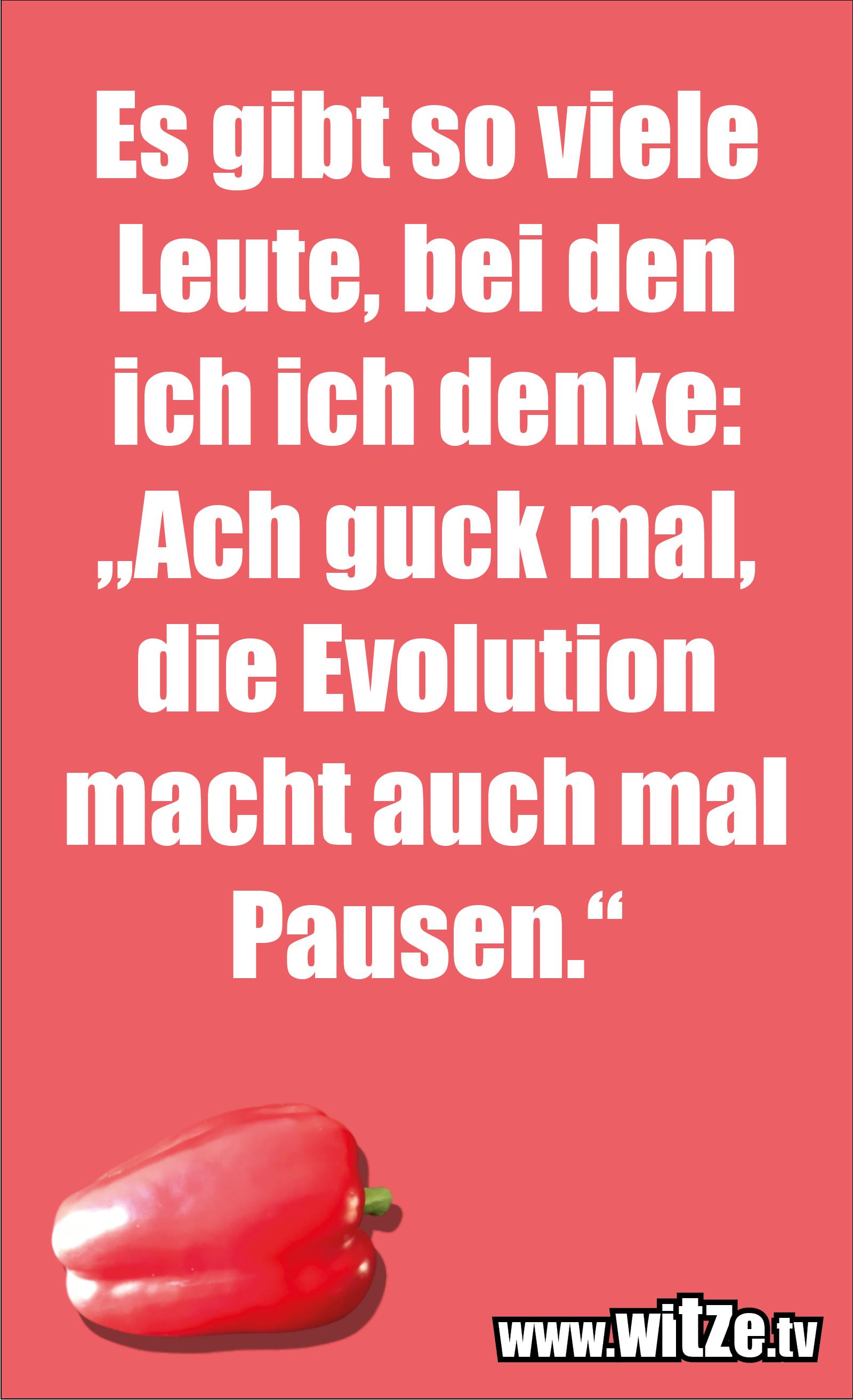 """Sarkasmus Sprüche: Es gibt so viele Leute, bei den ich ich denke: """"Ach guck mal, die Evolution macht auch mal Pausen."""""""
